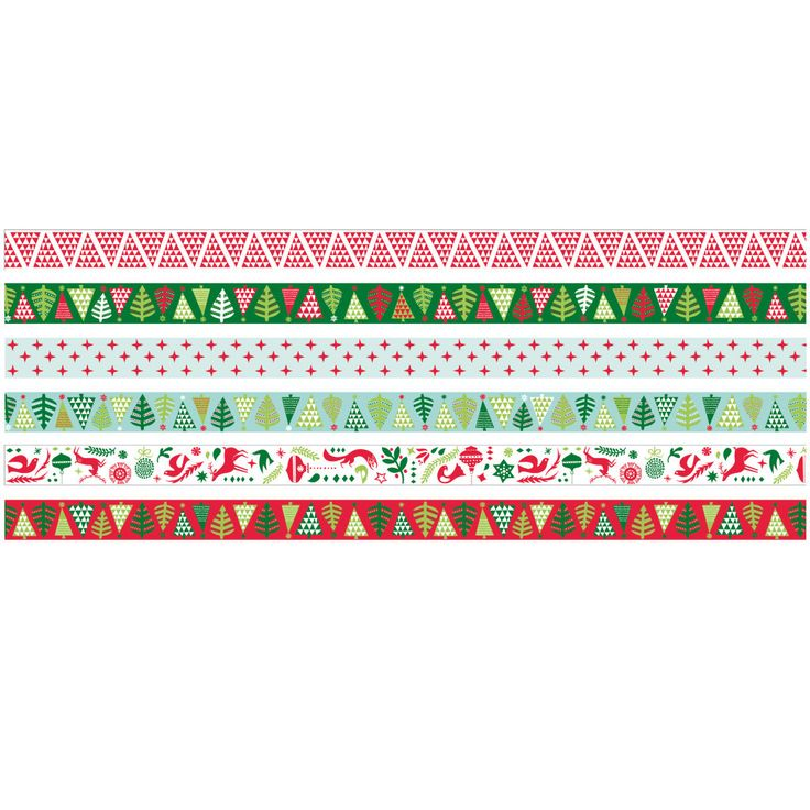 Christmas Washi tape: Selection of brightly coloured creative tape. Easy to tear & perfect for adding a bit of style and design to your Christmas craft.