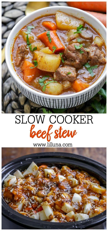 Grandma S Slow Cooker Beef Stew Video Lil Luna Recipe Slow Cooker Beef Stew Crockpot Recipes Beef Stew Beef Stew Recipe