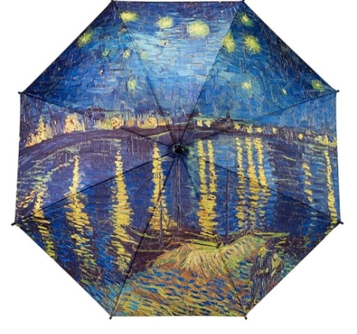 New canopy print from Galleria, featuring Van Gogh Starry Night over the Rhine.