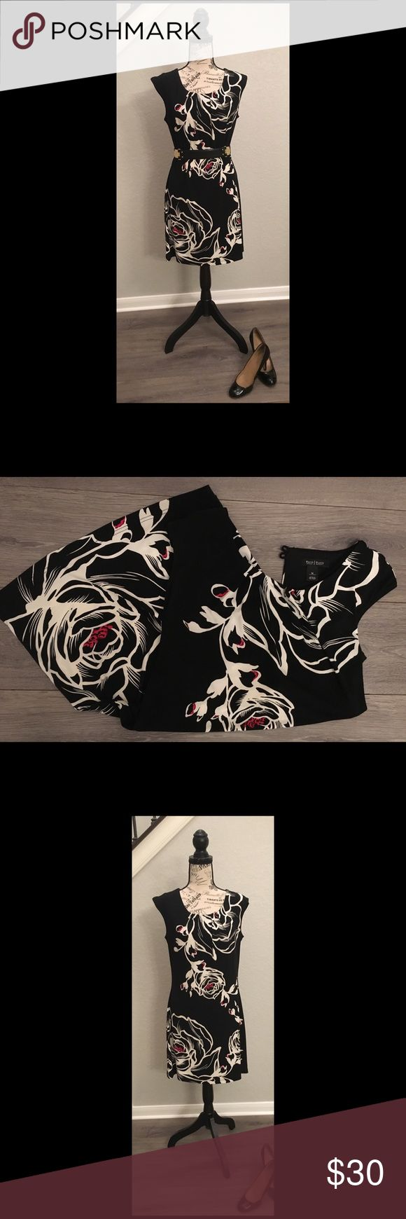 White House Black Market Floral Print Dress Pretty White House Black Market flor…