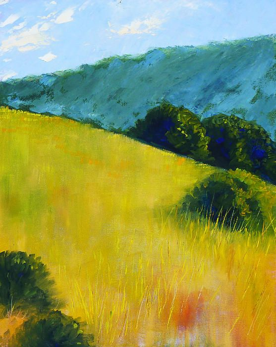 Hillside Prairie Landscape Painting by Nancy Merkle; Original and Fine Art Reproductions for Sale