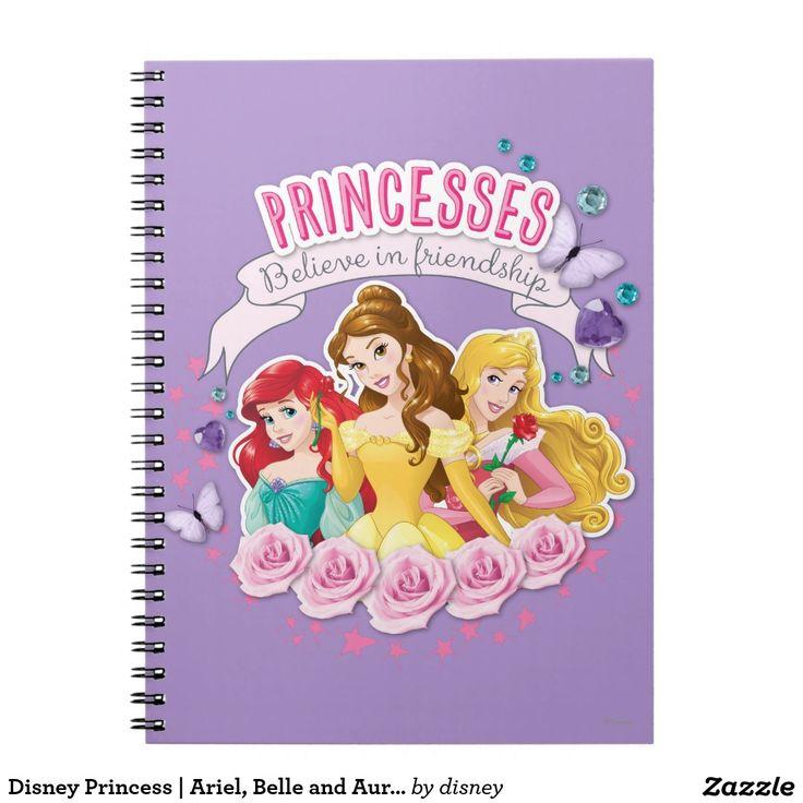Disney Princess | Ariel, Belle and Aurora. Regalos, Gifts. #notebook #cuaderno
