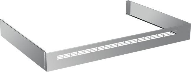 """Toekick, suitable for all 36"""" ranges. Finishing, stainless steel."""