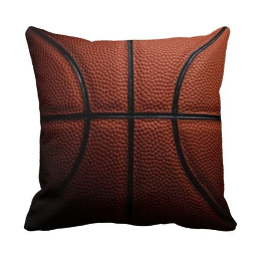 Square Basketball Pillow. Funny! How do you play with a square basketball? Never saw one before. #funny#sports