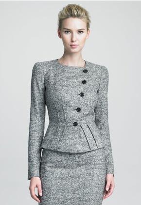 Style RF 649 - Five Buttons, No Collar, Medium Waist, No Pockets, No Vents.