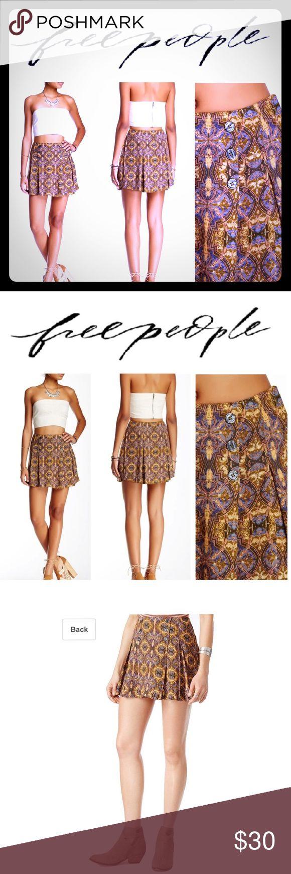NWT 🏷 FREE PEOPLE Lover's Lane Printed Mini Skirt FREE PEOPLE Lover's…