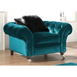 """turquoise velvet chair...(it's really more """"teal"""" ...but gorgeous!)"""