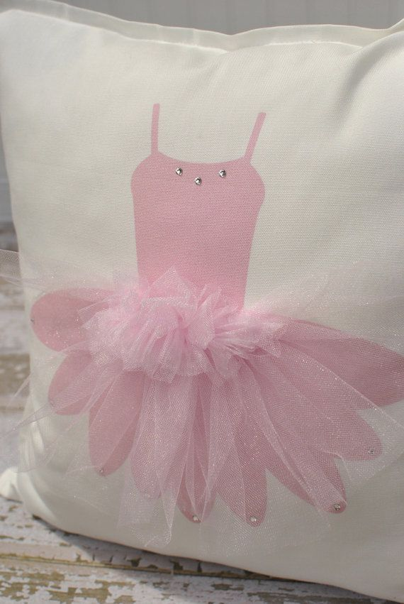 TUTU Ballerina Pillow Cover by MonMellDesigns on Etsy, $30.00