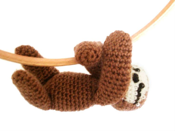 Now, this crochet Sloth will find a place in my home very relaxing. #crochet