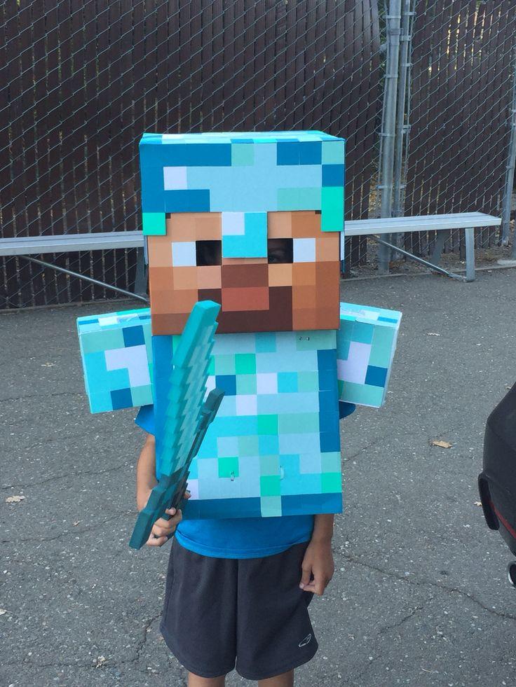 Minecraft Diamond Steve Costume 2015