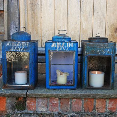 Vintage caddy lanterns