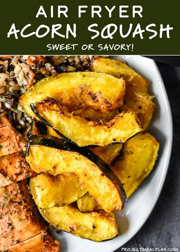 Air Fryer Acorn Squash Two Ways Recipe With Images Air