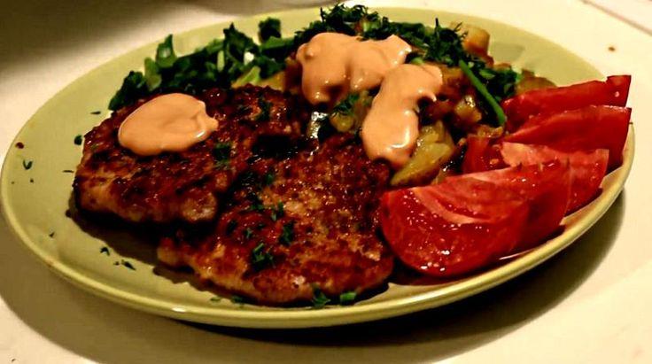 Познавательный портал - Свиной шницель с жареной картошкой