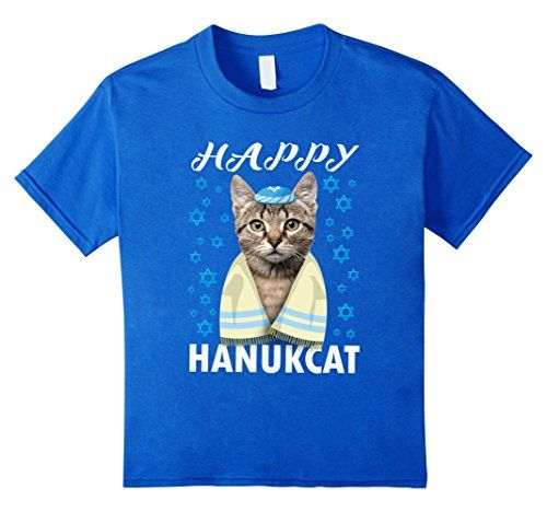 1d62af13 funny cat shirts for boys - Kids Hanukkah Cat T Shirt Happy Hanukcat Funny  Jewish Tee 6 Royal Blue * You can find more details by visiting the image  link.