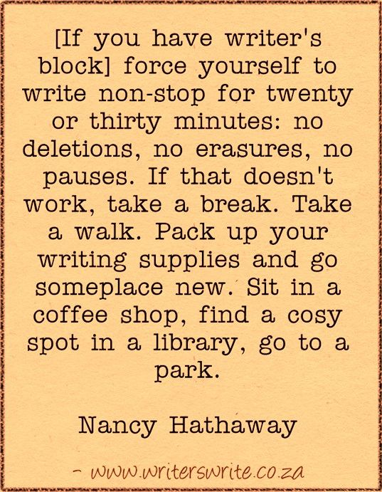 Quotable – Nancy Hathaway - Writers Write