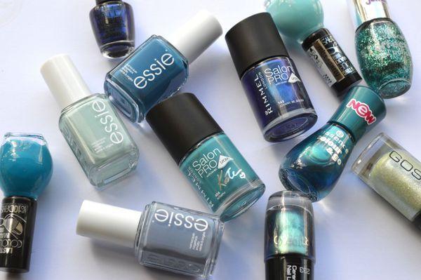 12x fashionable (zee)blauw & groen op je nagels - Girlscene