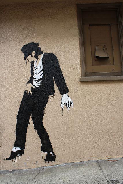 Michael Jackson street art by TimShoesUntied, via Flickr