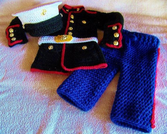Marine corps baby boy outfit USMC dress by babypropsbyconnie