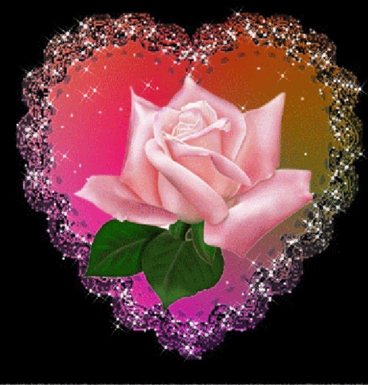 Сегодня пятница, открытки гифки с цветами красивые мерцающие