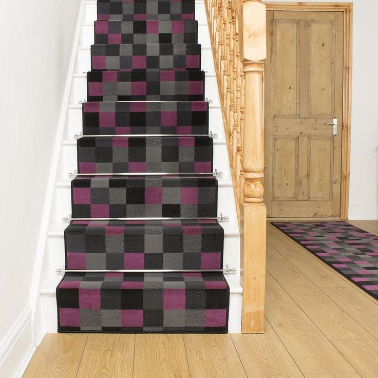 Purple Stair Runner Rug Gridlock