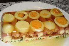 Hozzávalók: Aszpikhoz: 1-1 közepes szál sárga és fehérrépa, 1 darabka zeller, 1 darabka póréhagyma, 1 l szűrt húsleves ( vagy leveskocka+ 1l víz), 1...