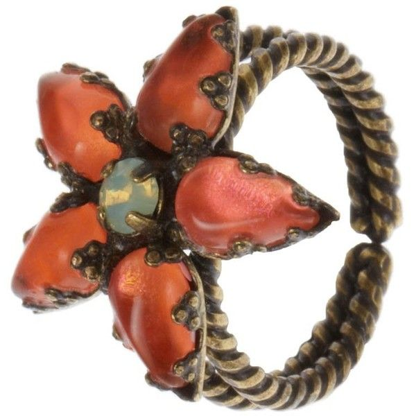 Konplott Ring (1.675 RUB) ❤ liked on Polyvore featuring jewelry, rings, orange, women's jewellery, konplott jewelry, orange ring, orange jewelry and konplott