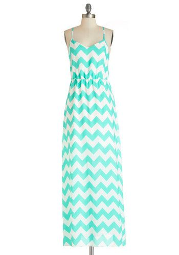 Mari-Timeline Dress. You get to the pier right on schedule and are ready to sail in this chevron-print maxi dress! NaN