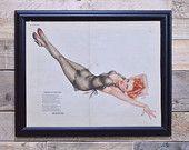 Vintage Pinup Girl Art, Original Varga For Esquire, Vintage Vargas Girl