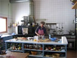GR5 trail - The Guardian and head cook at the CAF Refuge at Col du Croix du Bonhomme 2,483 meters.