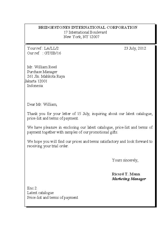 Contoh Surat Bisnis American Style American Style English Business Letter Surat