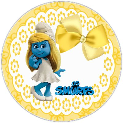 "kit birthday ""The Smurfs"" to girl - cone treats ""The Smurfs"" invitation ""The Smurfs"", etc ... - Invitations Digital Simple"