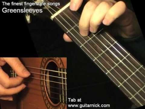 Greensleeves - classical guitar + TAB! Guitar lesson, learn to play - http://music.artpimp.biz/classical-music-videos/greensleeves-classical-guitar-tab-guitar-lesson-learn-to-play/