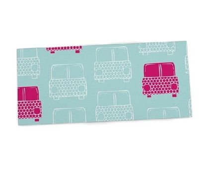 Shop at DormCo for our Aqua Cars Desk Mat! A dorm essential for dorm desks, this dorm desk mat will provide a cushioned work surface for college students while adding to dorm room decor with cute white and pink sketched cars on an aqua backdrop.