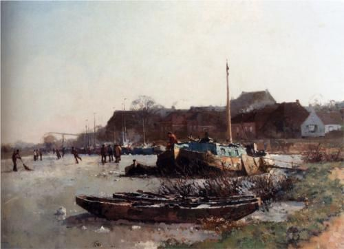 Winterfun On De Loswal, Hattem - Cornelis Vreedenburgh