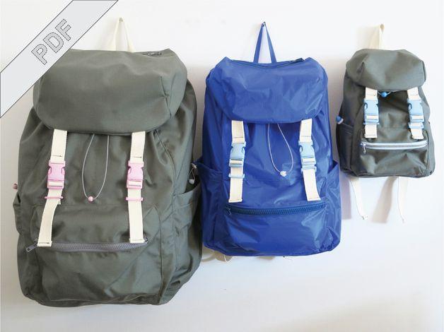 Rucksack No. 2 mit Schnittmuster # in drei Größen # von DIY-Sewing-Academy bei DaWanda