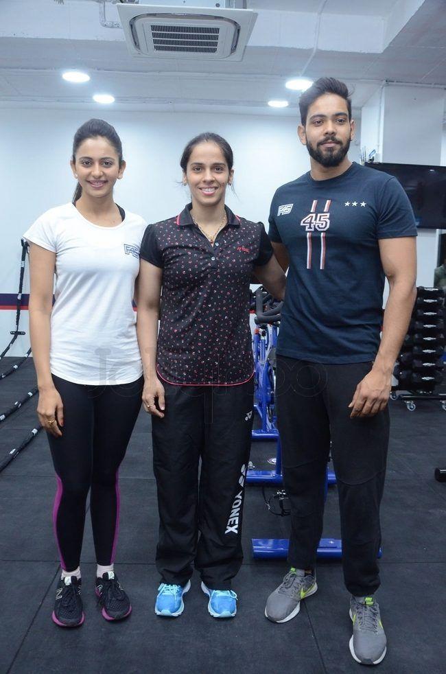 Saina Nehwal Launches Rakul Preet Singh F45 Gym Photo Gallery