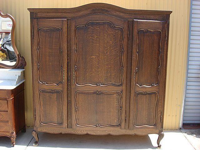 French Antique Armoire Wardrobe Antique Closet Cabinet