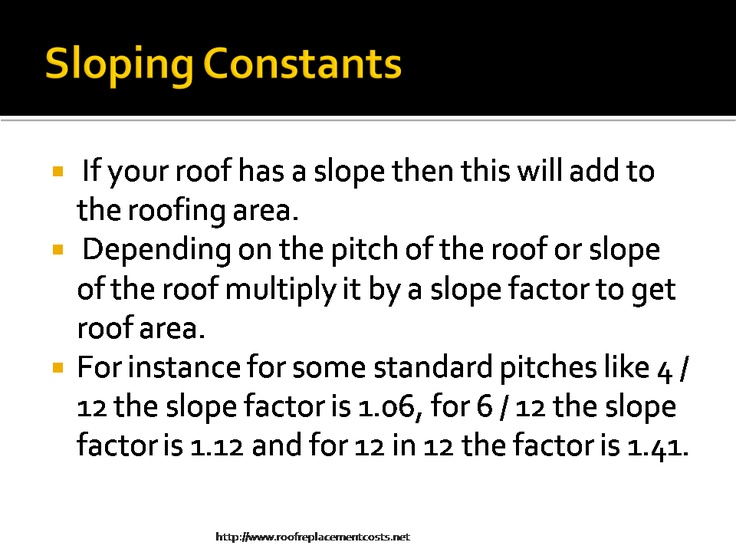 This Report Is A Presentation Of Roof Replacement Costs. Please Visit The  Site At Http