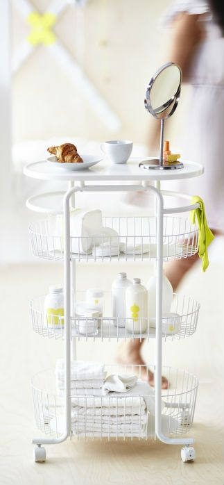 Store Your Bathroom Accessories In Style With The SPRUTT Cart. Has 3  Baskets And Comes. Bathroom StorageBathroom IdeasBathroom CartBathroom  UpdatesIkea ...
