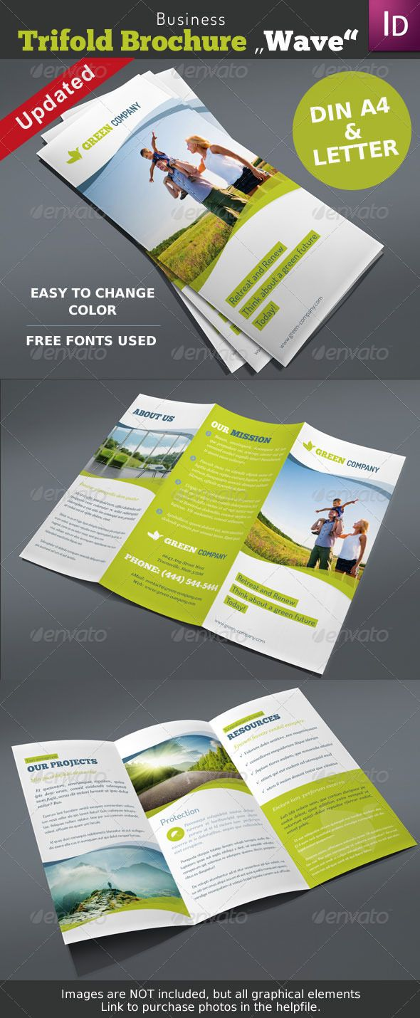 Trifold Brochure Wave Vol. 1 - Corporate Brochures  https://graphicriver.net/item/trifold-brochure-wave-vol-1/4206866?ref=231267