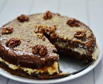 Mrkvový dort z žitné mouky bez cukru, s mascarpone krémem