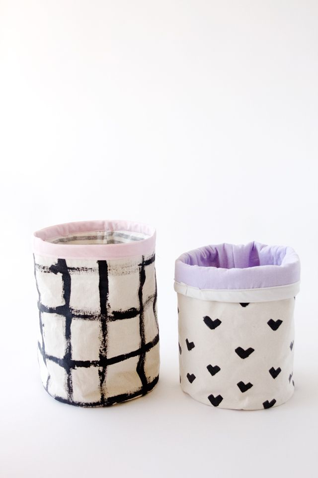 diy fabric basket tutorial with johnson 39 s buckets