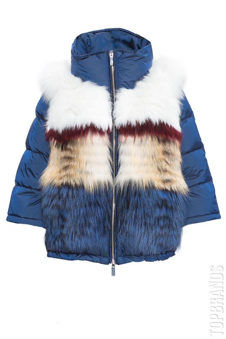 Пуховик с отделкой из меха лисы Flo & Clo KIM за 78800 руб. Интернет магазин брендовой одежды премиум-класса онлайн бутик - Topbrands.