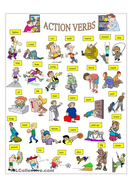 Action Verbs English Vocabulary  Action Verbs   Action Verbs Action And .