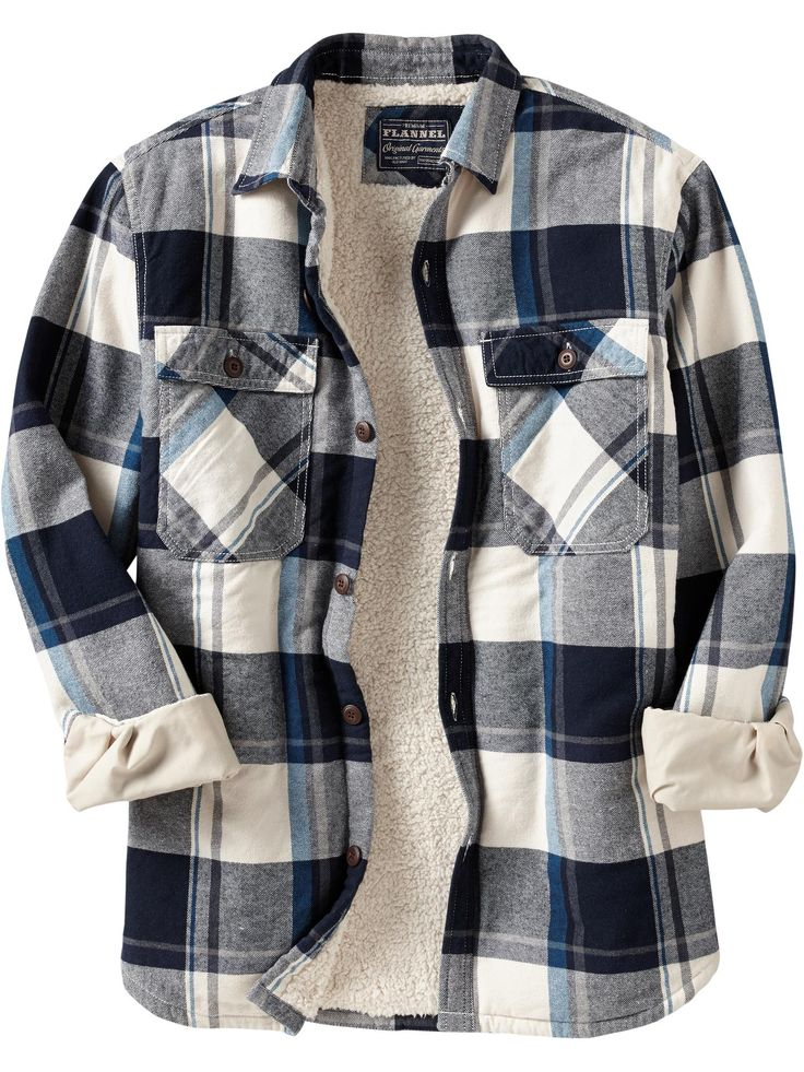 Sherpa lined shirt for dad menswear pinterest for Men s hooded flannel shirt jacket