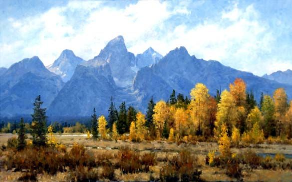Peak of Fall: Landscape art giclee print reproduction on ...