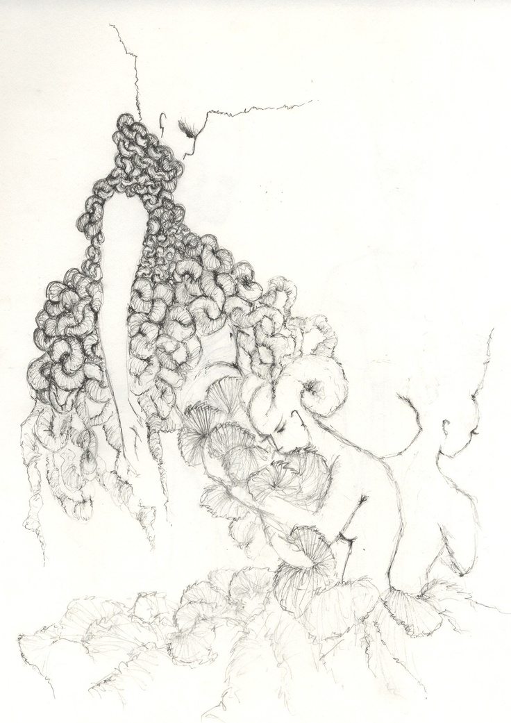 'tales of twists & coils & pleats & turmoils'....illustration for a knitwear and a floor length dress design !