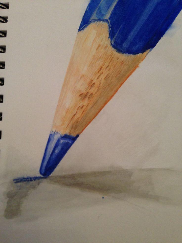 Coloured Pencil Close Up - Watercolour
