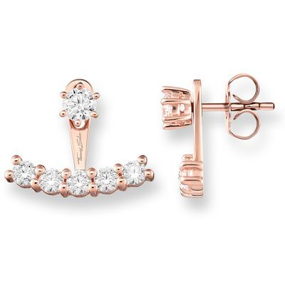 The THOMAS SABO ear jackets are the perfect gift for the woman who always leading the trends! With a feminine rose gold plating, these ear studs are brilliant for the woman who likes to be an individual when it comes to her style.