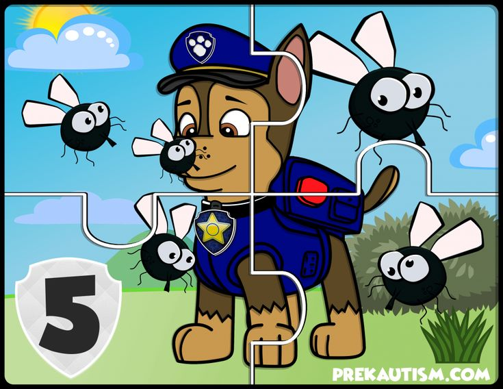 FREE Paw Patrol Counting Jigsaw Puzzle - Autism & Education